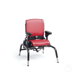 Rifton Activity Chair in Red with Standard Base shown.