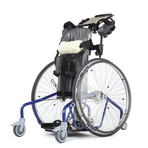 Rifton Mobile Stander, in blue, white background.