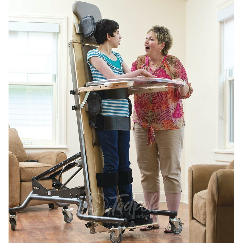 At home with the Rifton Supine Stander Mom and daughter eye-to-eye.