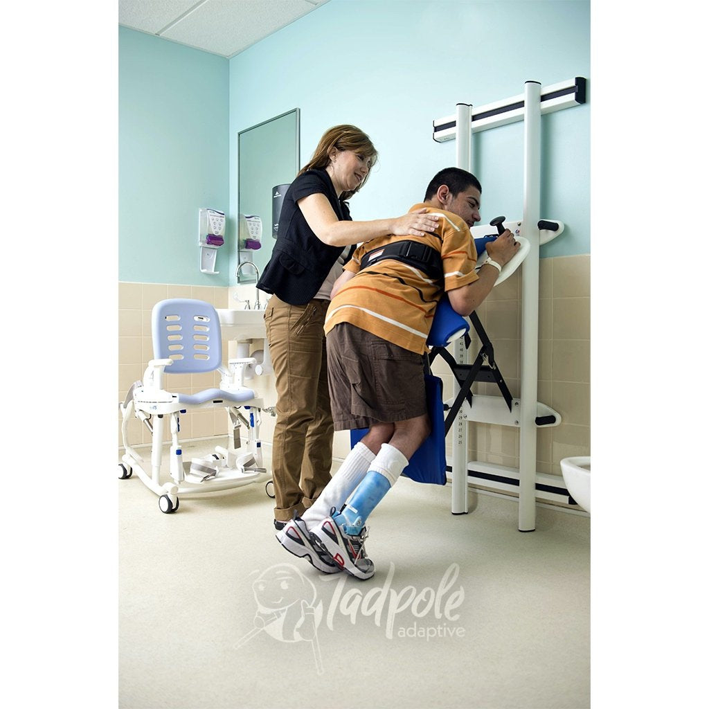 The Rifton Support Station allows the user to engage and build strength with vertical transfers.