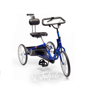 Large Rifton Tricycle in blue, main photo.