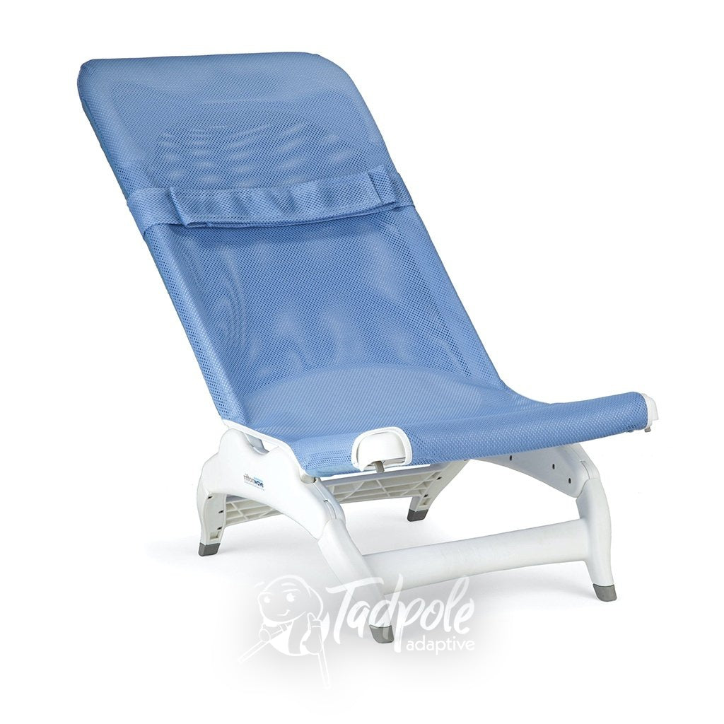 Rifton Wave Bathchair in Blue Fabric with no extra accessories.