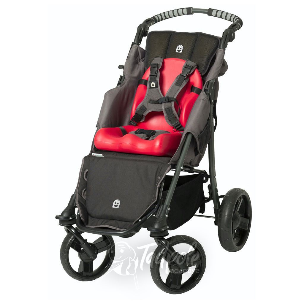 Special Tomato EIO Push Chair, with cherry red seat and back liner.