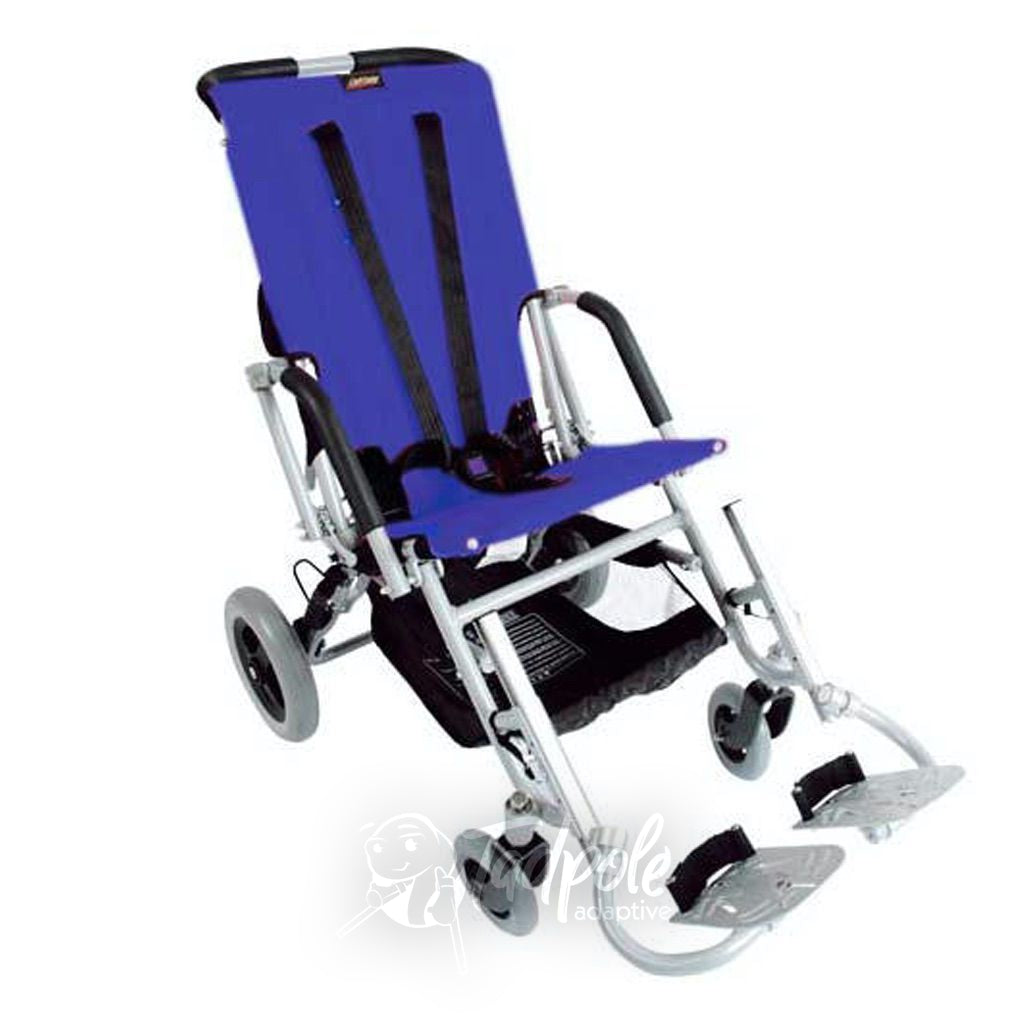 Lightning Stroller By Stealth shown in blue.