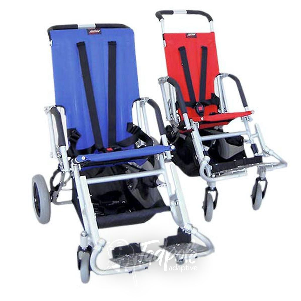Lightning Stroller By Stealth in both red and blue.