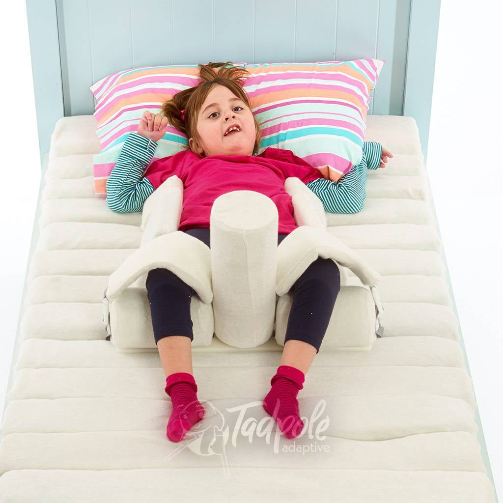 Young girl in bed in her Jenx Dreama - Postural Support Sleeping System, Supine 1