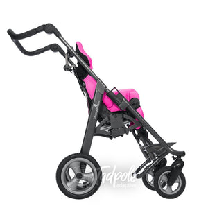 Thomashilfen tRide Rehab Stroller, sideview in pink.