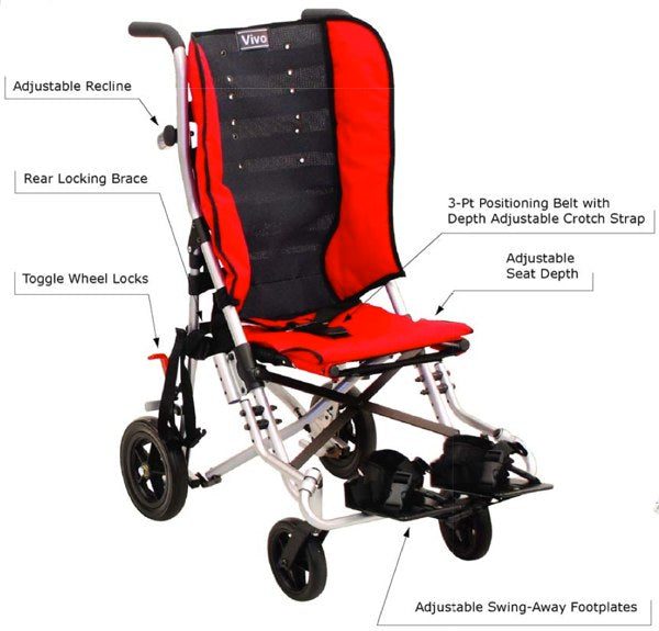 Convaid Vivo Special Needs Stroller | Features | Tadpole Adaptive