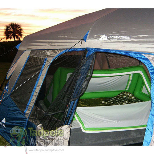 Enjoy new experiences like Camping with the Safe Place Travel Bed!