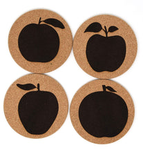 Cider Apple 4 Coaster Set