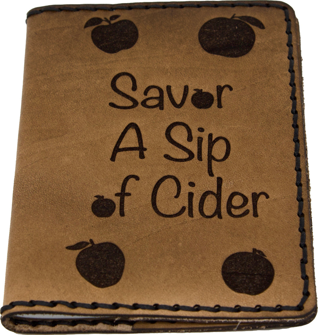 Leather Cider Journal Cover