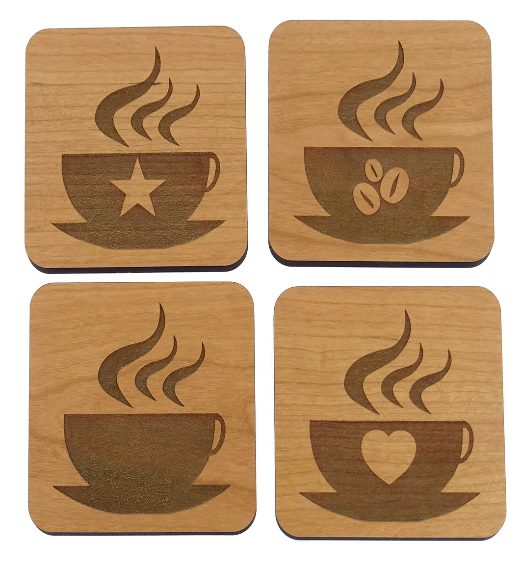 Coffee Time 4 Coaster Set