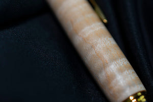 Gold Compson - Curly Maple Click Pen