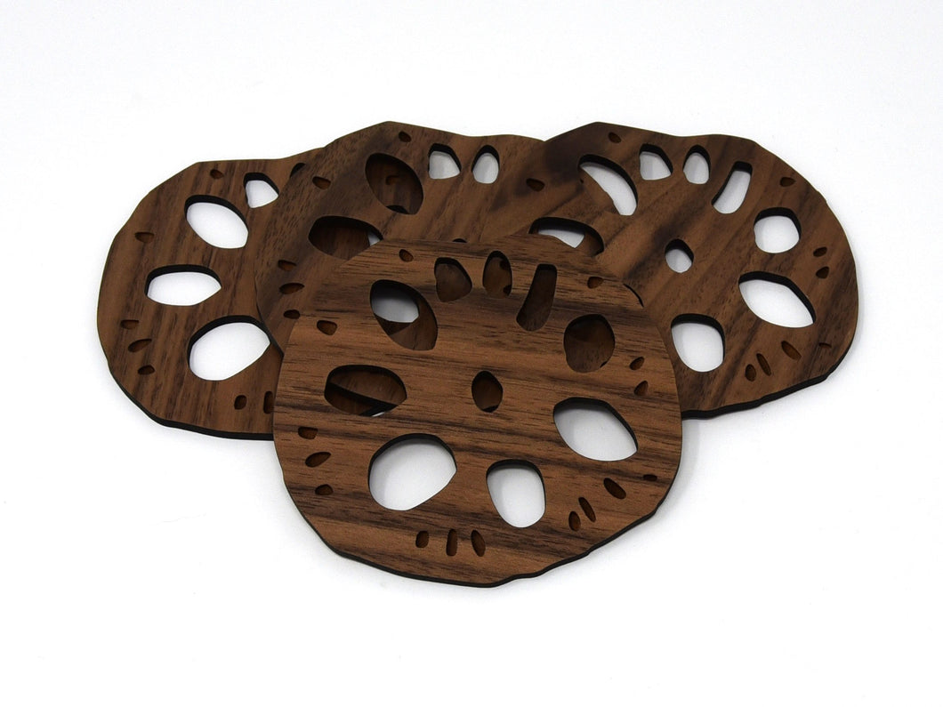 Lotus Root 4 Coaster Set