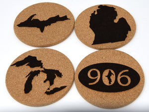 Michigan 4 Coaster Mixed Set