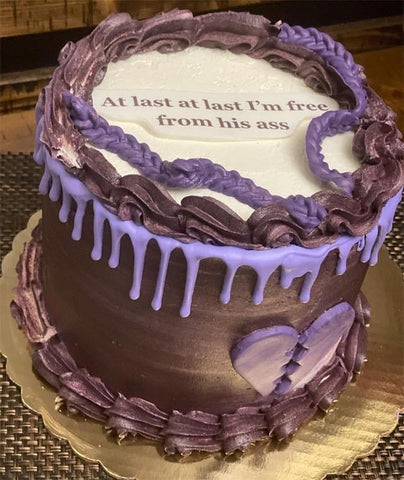 inappropriate funny divorce cakes