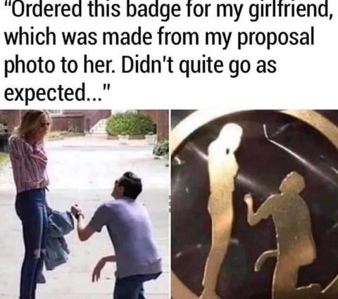 inappropriate jewellery proposal