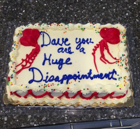 inappropriate gift inappropriate cake we all know a dave