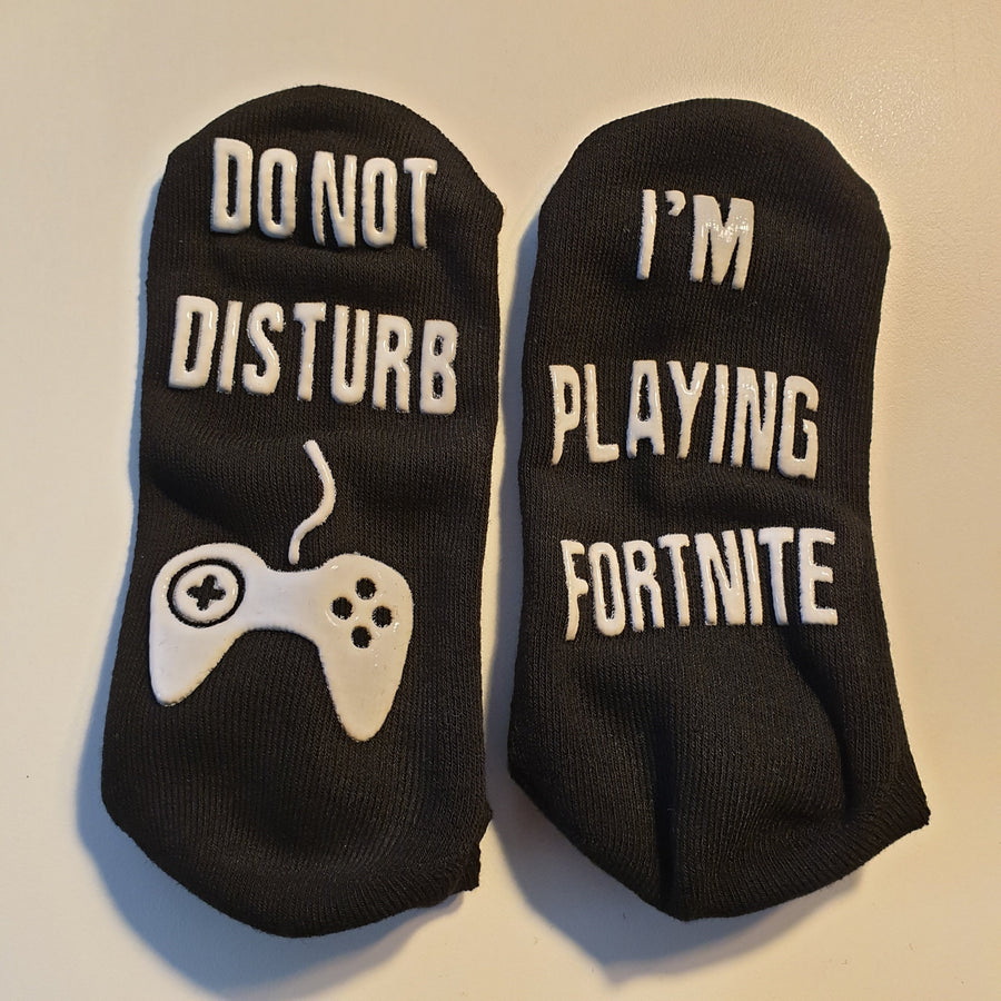 Do Not Disturb I'm Playing Fortnite Ankle Socks