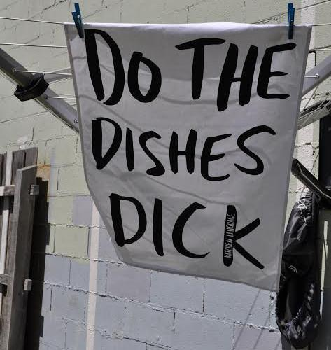 Do the Dishes Dick Tea Towel