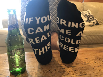 If you can read this bring me a cold beer socks