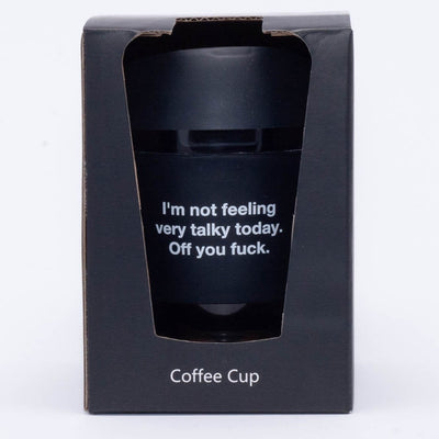 Not feeling talky today glass travel mug