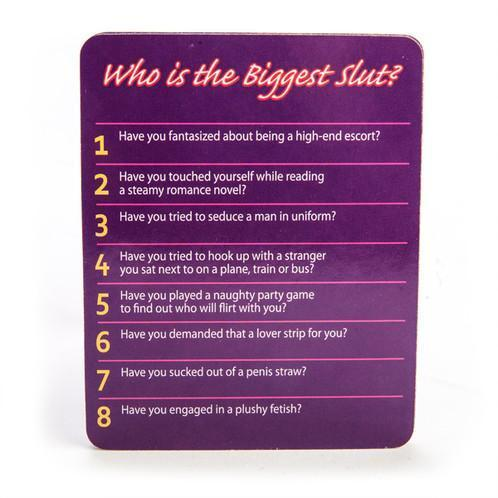 Who is the Biggest Slut - Card Game