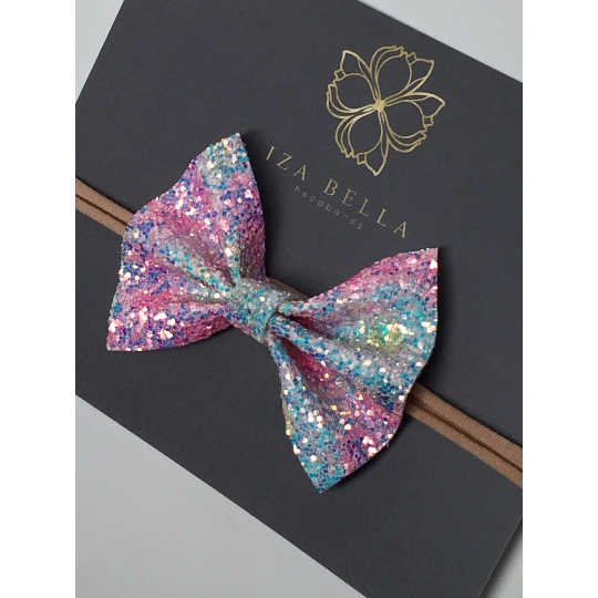 Unicorn Glitter Bow Headband