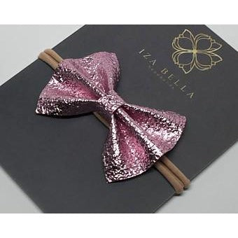 Shiny Pink Bow Headband