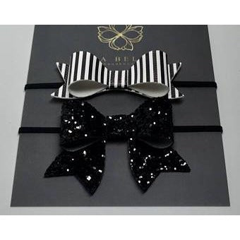 Black and White Headband Set