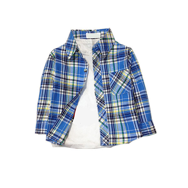 Plaid Print Long Sleeve Shirt