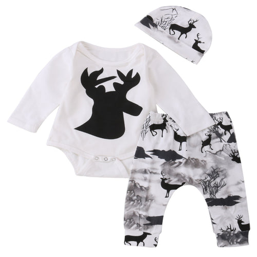 Deer Romper With Pants & Cap