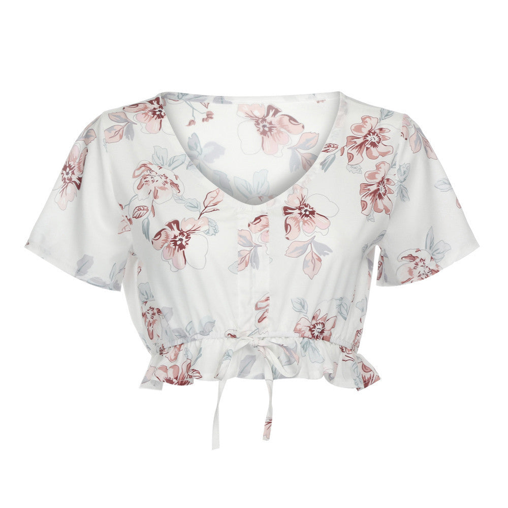 Floral Crop Blouse