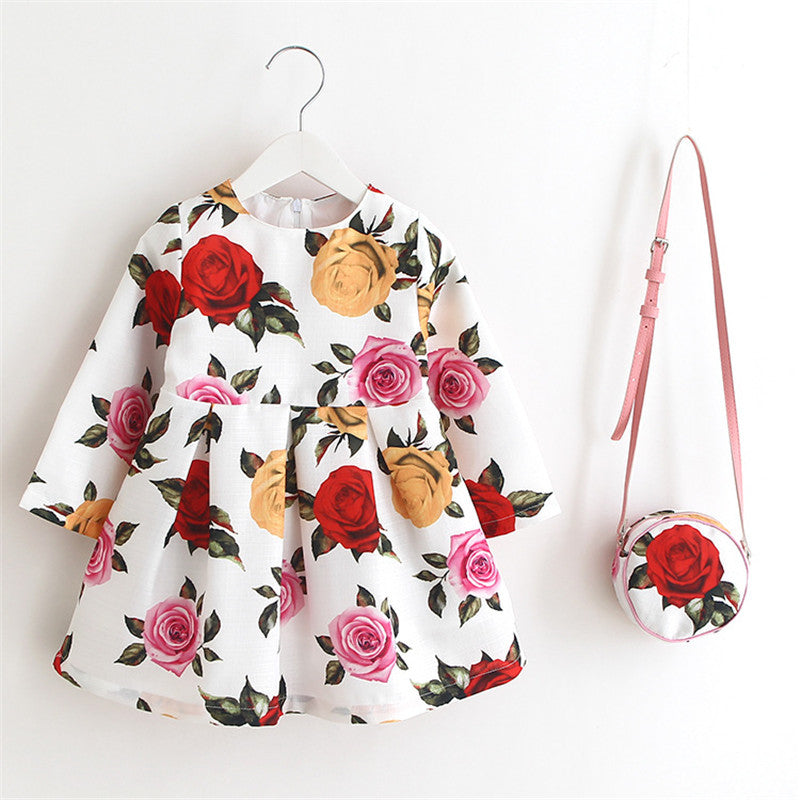 Emma Floral Dress + Purse