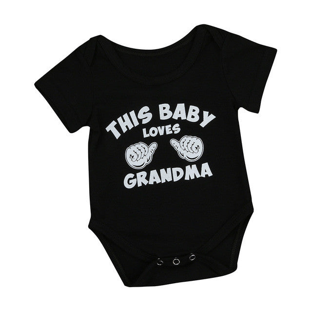 Baby Loves Grandma Onesie