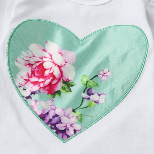 Floral Heart Set With Headband