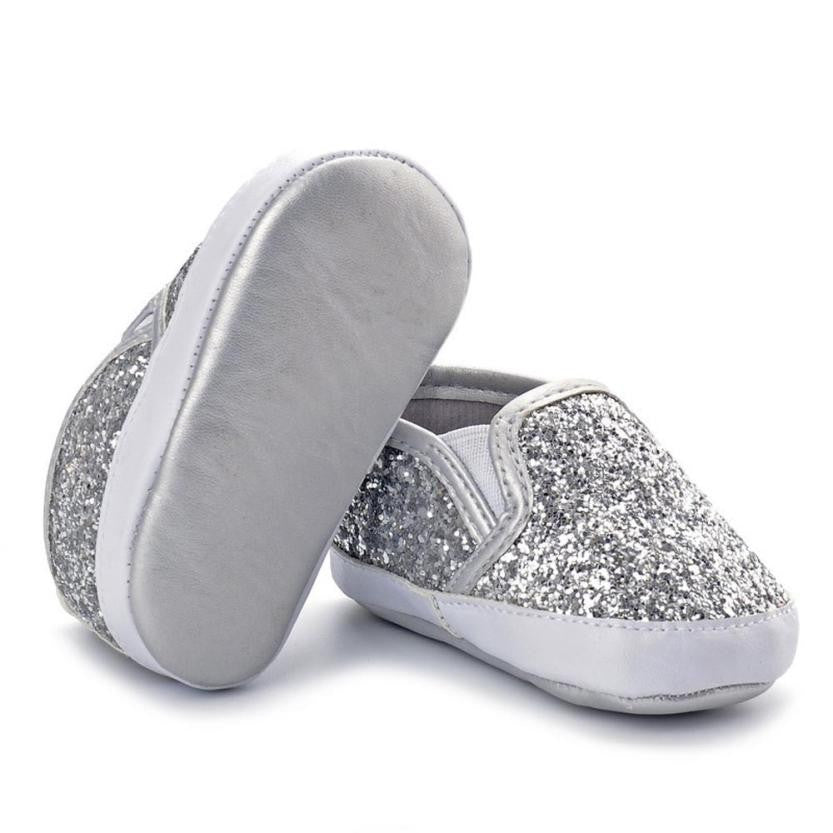 Shiny Silver Shoes