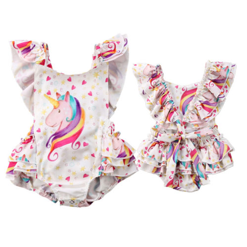 Unicorn Hearts Romper