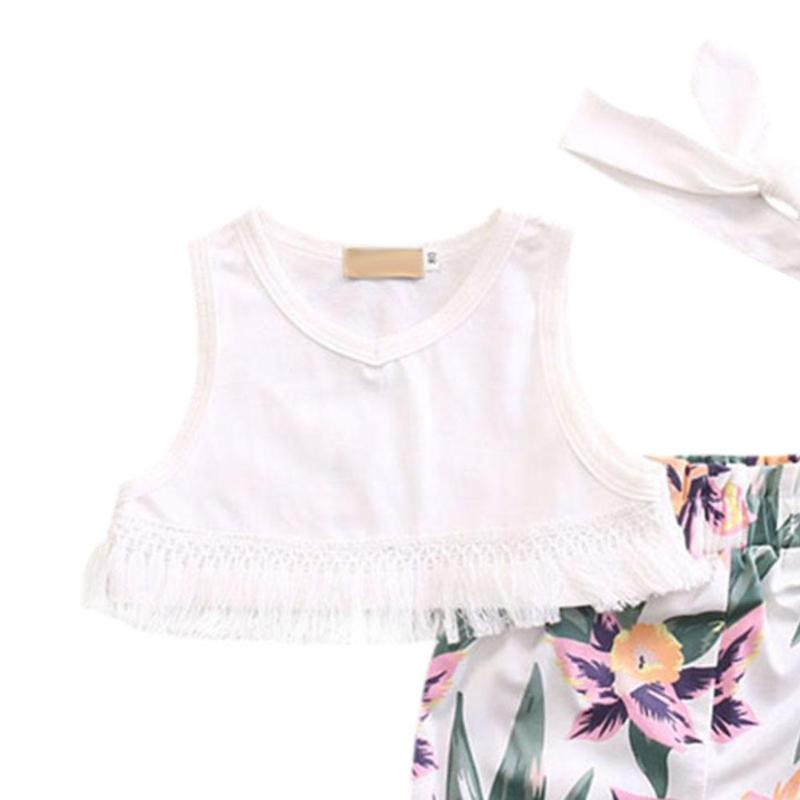 Fringe Crop Top Set