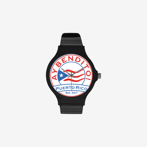 Ay Bendito! Custom Black Plastic High Quality Watch(Round) - aybendito