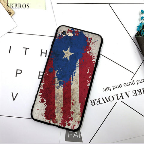 SKEROS puerto rico flag (3) TPU Phone Case Soft Cover For X 5 5S Se 6 6S 7 8 6 Plus 6S Plus 7 Plus 8 Plus #da278