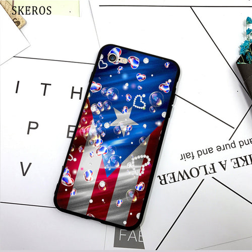 SKEROS puerto rico flag (6) TPU Phone Case Soft Cover For X 5 5S Se 6 6S 7 8 6 Plus 6S Plus 7 Plus 8 Plus #da281 - aybendito