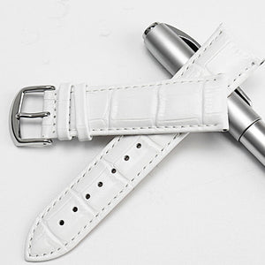 30 Meters Waterproof Quartz Fashion Watch With White Genuine Leather  - aybendito