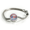 Ay Bendito Incredible Charm Bracelet Made In The U.S.A. of Stainless Steel and Shatterproof Glass.