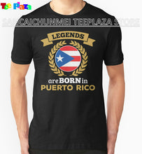 Fashion Men'S O-Neck Design Short Sleeve Legends Are Born In Puerto Rico T Shirts - aybendito