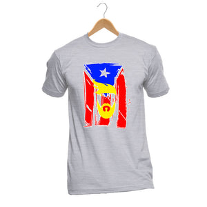 Men's Fashion T-Shirt Basic Style Hip-Hop O-T-Shirt Customized Gray Puerto Rico Baseballer Classic Team Flag Footballe Tee Shirt - aybendito
