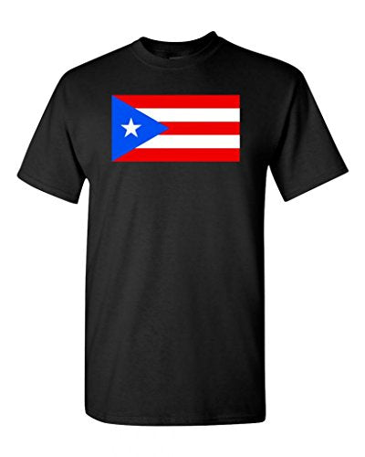 Puerto Rico Country Flag Adult DT T-Shirt Tee