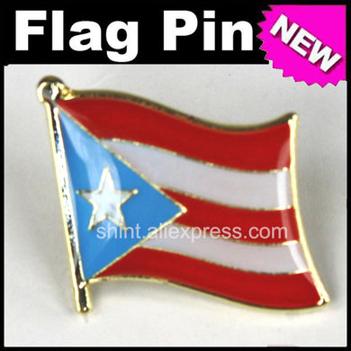 Lapel Pins Puerto Rico Flag Pins All Over The World Badge Emblem Country State Pins - aybendito