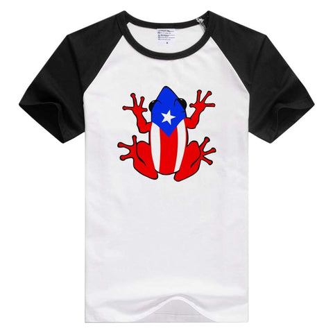 Puerto Rico Frog short sleeve casual Men Women T-shirt Comfortable Tshirt Cool Print Tops GA891