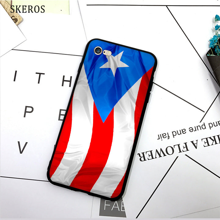 SKEROS puerto rico flag (1) TPU Phone Case Soft Cover For X 5 5S Se 6 6S 7 8 6 Plus 6S Plus 7 Plus 8 Plus
